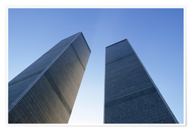 Premium-Poster  Twin Towers des World Trade Centre - Sue Cunningham