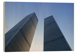 Holzbild  Twin Towers des WTC - Sue Cunningham