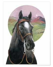 Premium-Poster Black Beauty