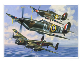 Premium-Poster  Jagdflugzeuge - Wilf Hardy
