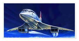 Poster  Concorde - Wilf Hardy