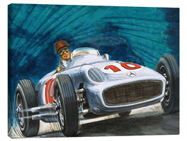 Leinwandbild  Juan Manuel Fangio fährt Mercedes-Benz - English School