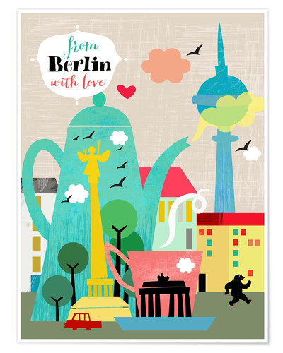 Premium-Poster From Berlin with love