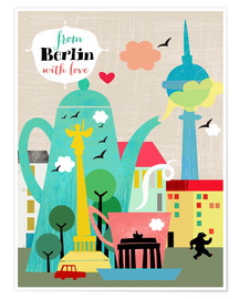 Premium-Poster  From Berlin with love - Elisandra Sevenstar