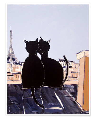 Premium-Poster Katzen in Paris