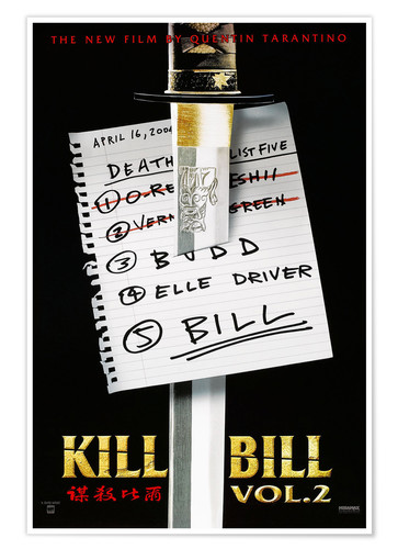 Premium-Poster Kill Bill - Volume 2