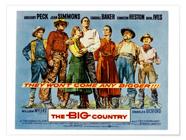 Poster  THE BIG COUNTRY, Charles Bickford, Charlton Heston, Carroll Baker, Gregory Peck, Jean Simmons, Burl
