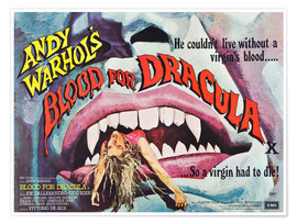 Premium-Poster  Andy Warhol's Dracula (englisch)