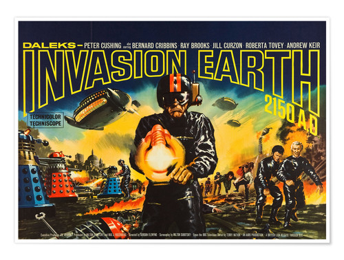 Premium-Poster Daleks' Invasion Earth 2150 A.D.