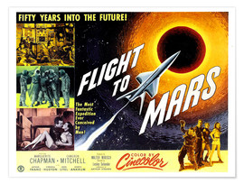 Premium-Poster Flight to Mars