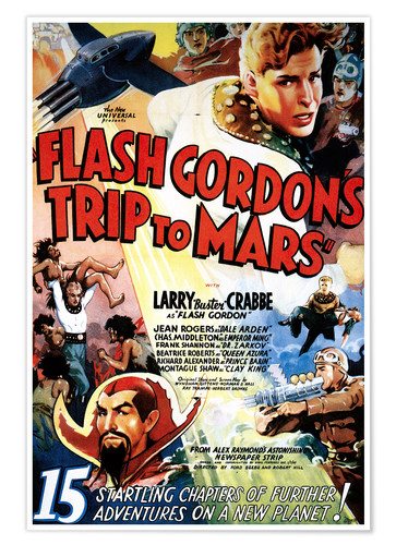 Premium-Poster Flash Gordon's Trip to Mars