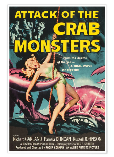 Premium-Poster Attack of the Crab Monsters