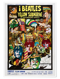 Premium-Poster  The Beatles - Yellow Submarine (italienisch)