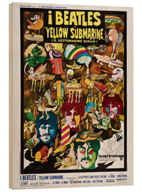 Holzbild  The Beatles - Yellow Submarine