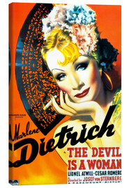 Leinwandbild  THE DEVIL IS A WOMAN, Marlene Dietrich, 1935 Poster Art