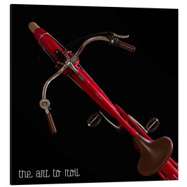 Alubild  the art to roll / squared - Mario Benz