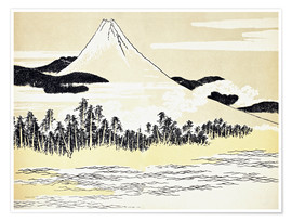 Premium-Poster Der Berg Fuji in Japan