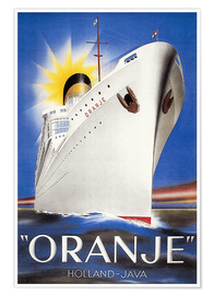 Premium-Poster Dutch Travel Poster, 1939.