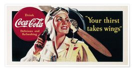 Premium-Poster Coca-Cola, your thirst takes wings