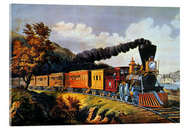 Acrylglas  American Express Train. - N. & J.M. Currier & Ives