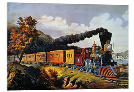 Hartschaumbild  American Express Train. - N. & J.M. Currier & Ives