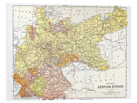 Hartschaumbild  Map: German Empire.