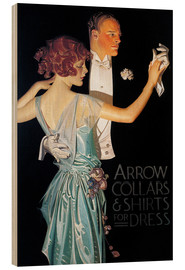 Holzbild  Arrow Collars - Joseph Christian Leyendecker