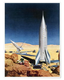 Premium-Poster  Mars Mission, 1950s. - Chesley Bonestell