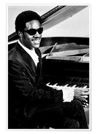 Premium-Poster Stevie Wonder am Klavier
