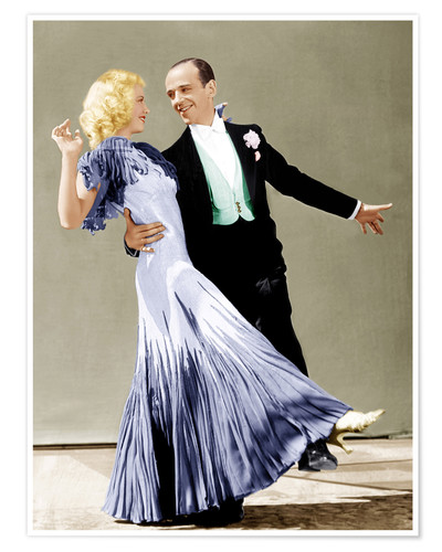 Premium-Poster Tanz mit mir!, Ginger Rogers, Fred Astaire