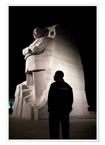 Premium-Poster Präsident Barack Obama besichtigt das Martin Luther King, Jr. National Memorial in Washington, DC