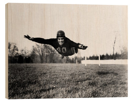 Holzbild  Vince Lombardi, (1913-1970), future General manager of the Green Bay Packers and one of the most suc