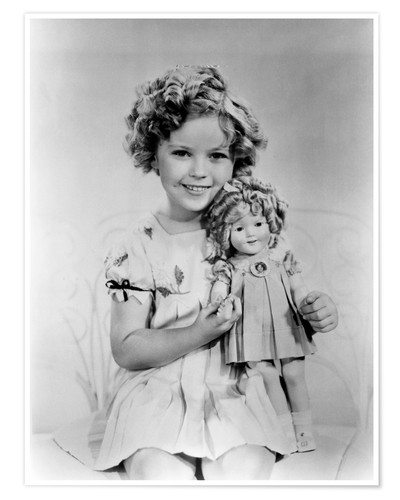 Premium-Poster Shirley Temple mit einer Shirley-Temple-Puppe