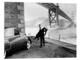 Hartschaumbild  VERTIGO, James Stewart, Kim Novak, 1958