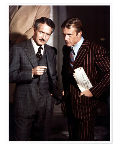 Premium-Poster THE STING - Paul Newman und Robert Redford