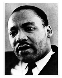 Premium-Poster Dr. Martin Luther King Jr. (1929-1968), African American civil rights leader, c. 1960's..