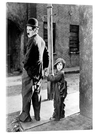 Acrylglas  THE KID, Charles Chaplin, Jackie Coogan