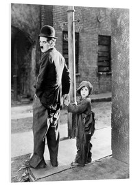 Hartschaumbild  The Kid, Charlie Chaplin, Jackie Coogan, 1921