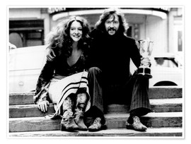 Premium-Poster Eric Clapton and Alice Ormsby-Gore