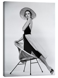 Leinwandbild  Grace Kelly mit Hut