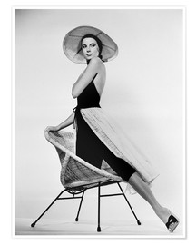 Premium-Poster  Grace Kelly mit Hut