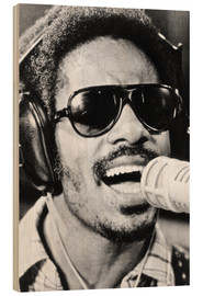 Holzbild  Stevie Wonder, 1974