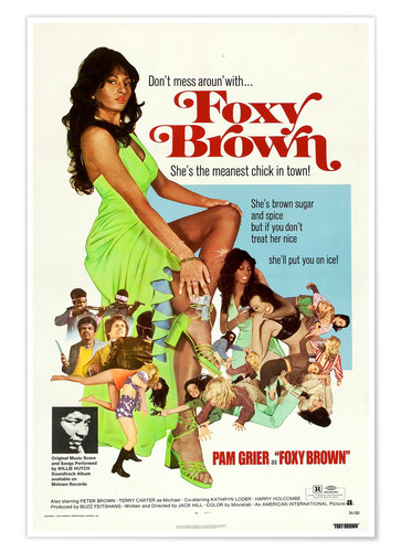 Premium-Poster Foxy Brown