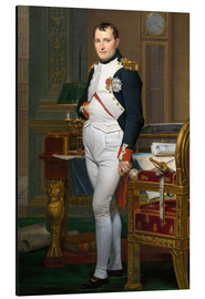 Alubild  Napoleon in seiner Stube bei Tuileries - Jacques-Louis David