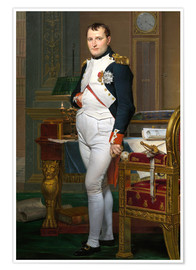 Poster  Napoleon in seiner Stube bei Tuileries - Jacques-Louis David