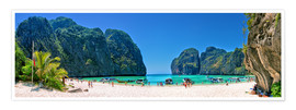 Premium-Poster  Maya Bay - The Beach - Thailand - Stefan Becker