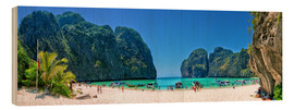 Holzbild  Maya Bay - The Beach - Thailand - Stefan Becker