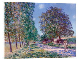 Acrylglasbild  Pappel-Allee in Moret am Loing - Alfred Sisley