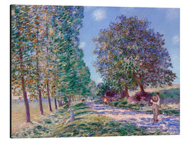 Alubild  Pappel-Allee in Moret am Loing - Alfred Sisley