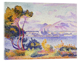 Acrylglasbild  Antibes, Nachmittags (Antibes, Apres-midi). 1908. - Henri Edmond Cross